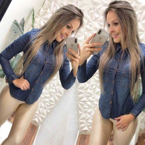 CAMISA JEANS LADY ROCK -